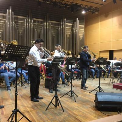 Masterclass au conservatoire d'Almaty, Kazakhstan